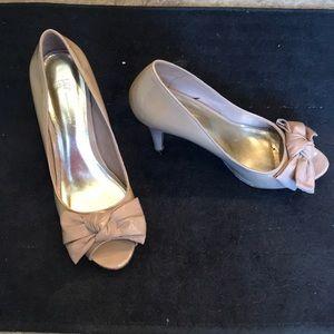 INC Nude Open Toe Size 8 Heels